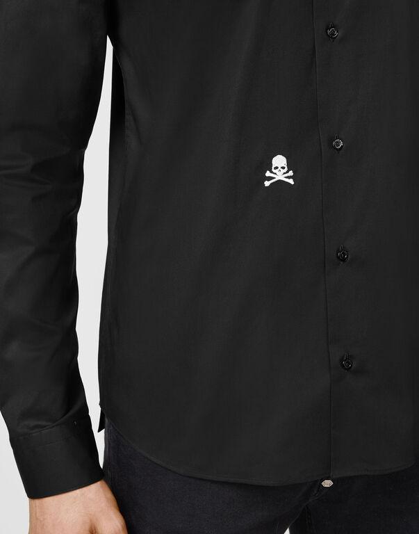Shirt Sugar Daddy LS Embroidery Skull