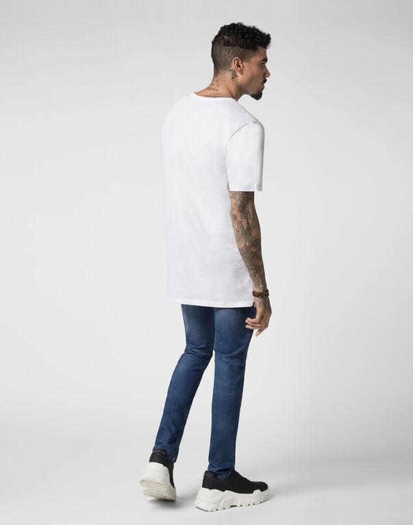 T-shirt Black Cut Round Neck Original
