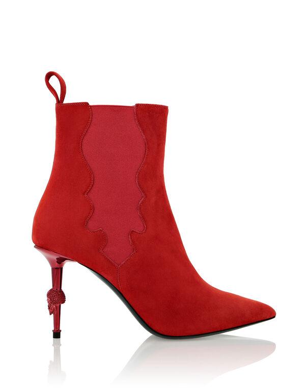 Boots Mid Heels Mid Skull