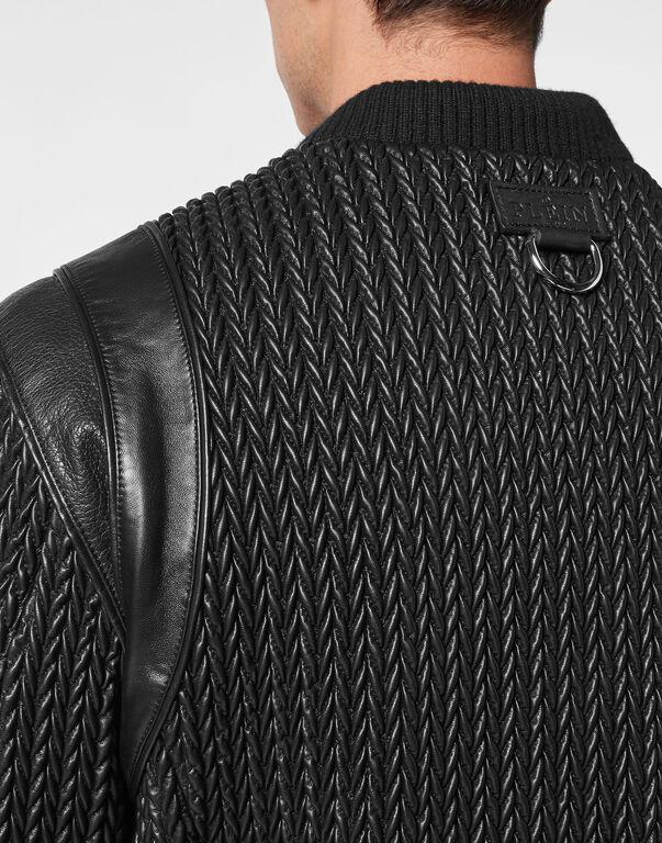 Soft leather bomber Iconic Plein
