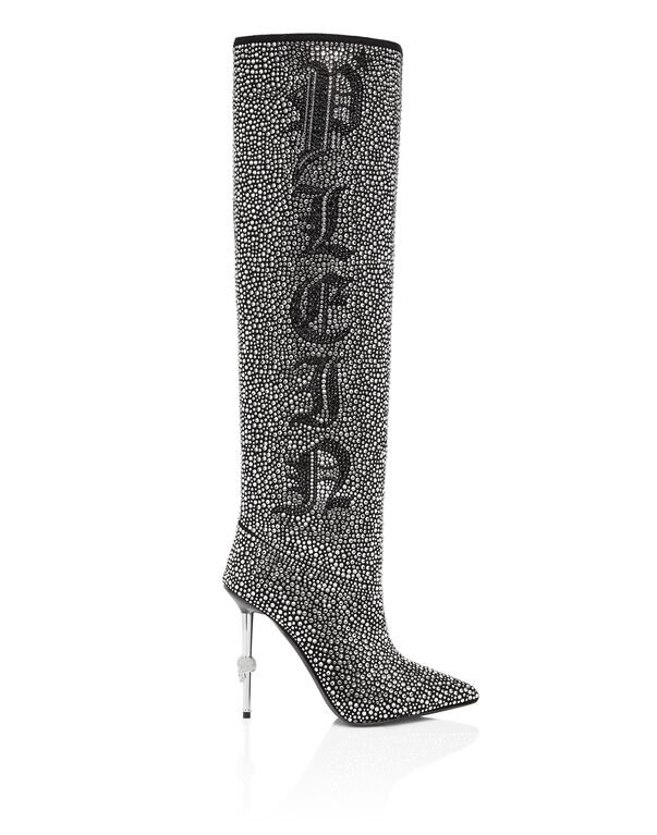 Boots Hi-Heels Overknees Crystal