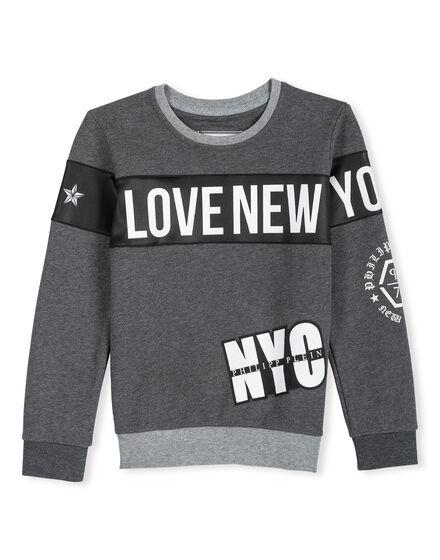 Sweatshirt LS Platin Dark