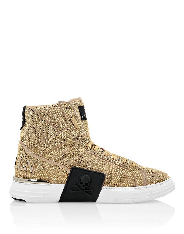 Hi-Top Sneakers Gold