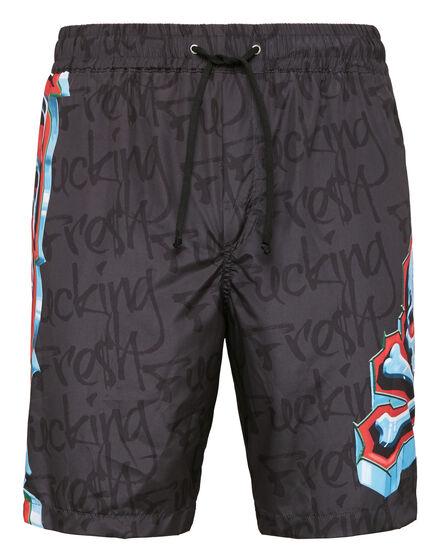 Boxer long beachwear Graffiti