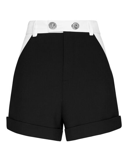 Cady Black and White Short Trousers