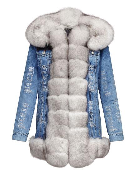 Denim Jacket Crystal Plein