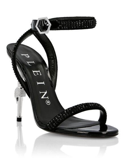 Sandals Mid Heels Crystal