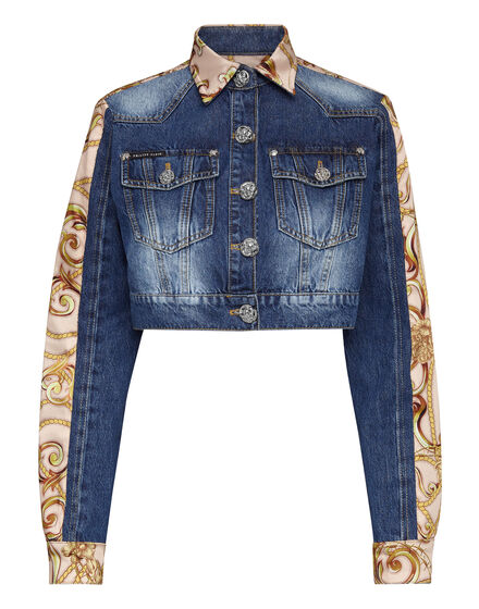Denim Cropped Jacket New Baroque