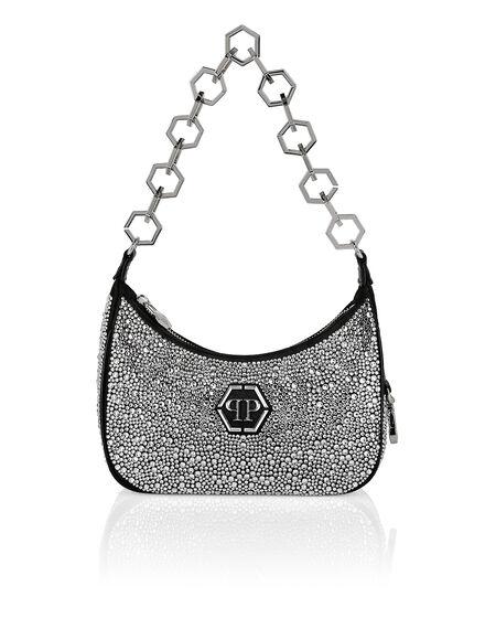 Leather Shoulder Bag Crystal