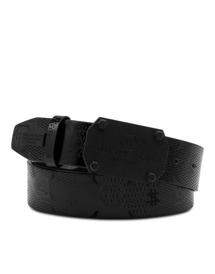 Patent Leather Belt Monogram