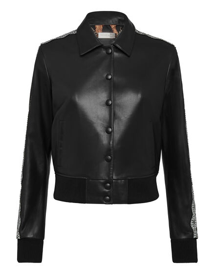 Leather Bomber  Crystal Cable
