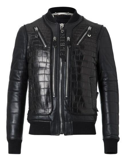Leather Bomber Jackie