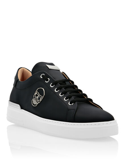 Rubber Leather Lo-Top Sneakers The $kull TM