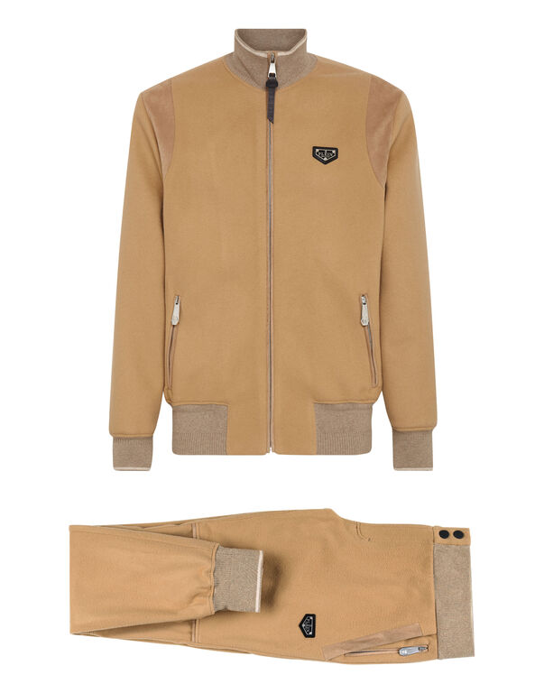 Cashmere 10 Jacket/Trousers suede insert Iconic Plein
