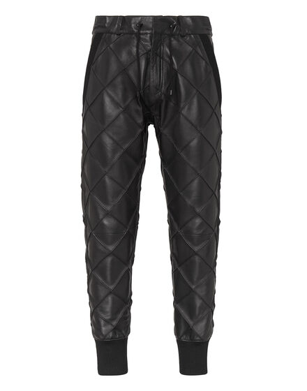 Leather Jogging Trousers Statement