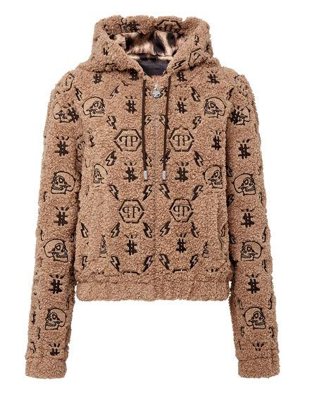 Hoodie Sweatjacket Embroidery Monogram