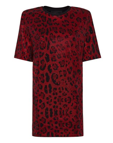 T-shirt Dress Leopard
