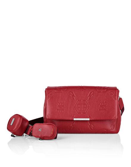 Leather maxi Shoulder Bag Monogram