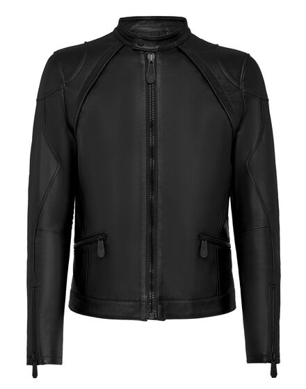 Leather Moto Jacket Iconic Plein