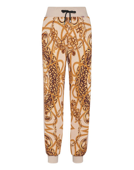 Jogging Trousers knit & fleece Jacquard New Baroque