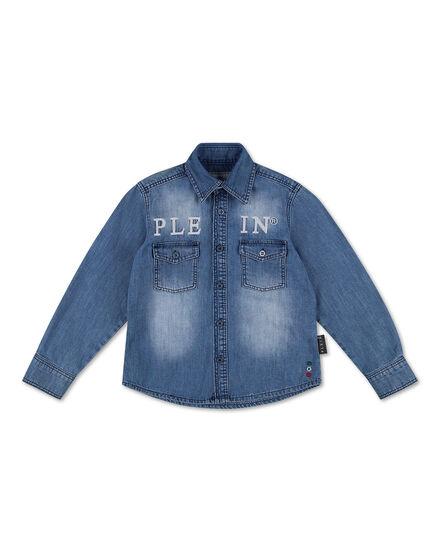 Denim Shirt Ls Embroidery Philipp Plein TM